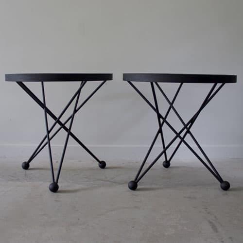 black atom side tables