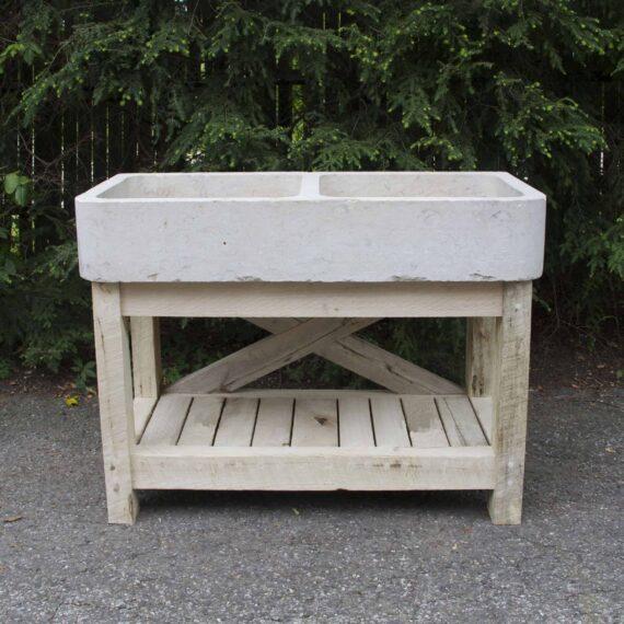 antique carved marble sink with potting sink base