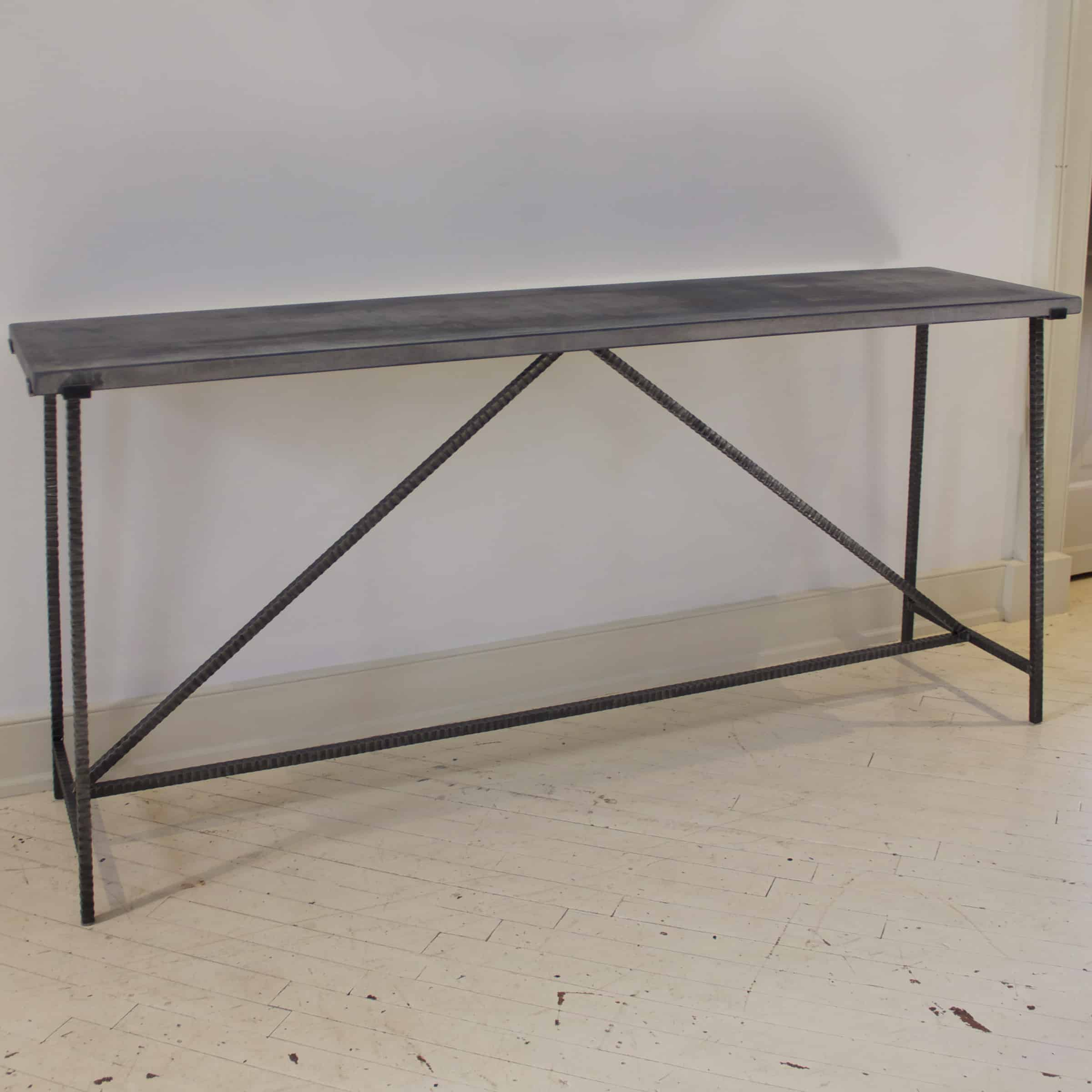 Runway Console Table with Reclaimed Bluestone Top Hold RT Facts