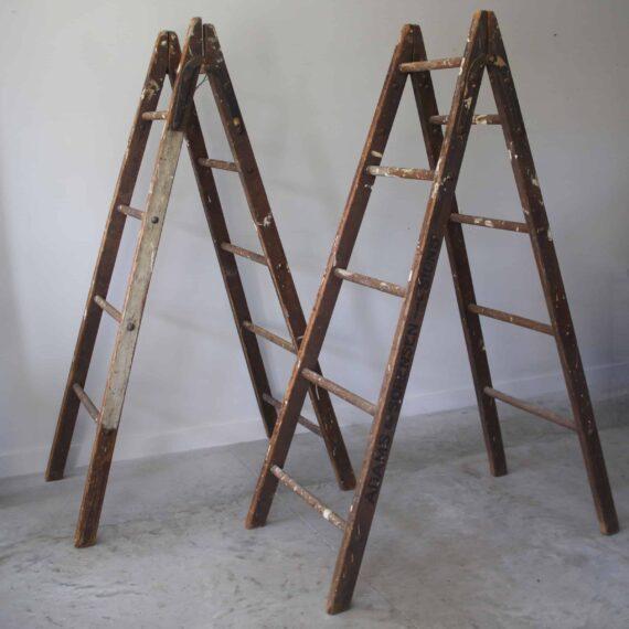 pair-of-antoque-ladders