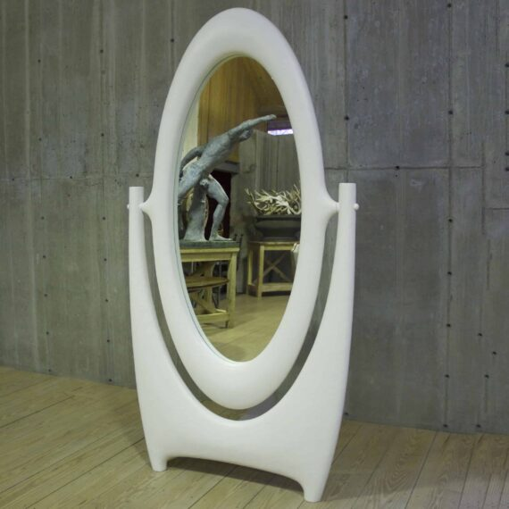 articulating stnding gesso mirror