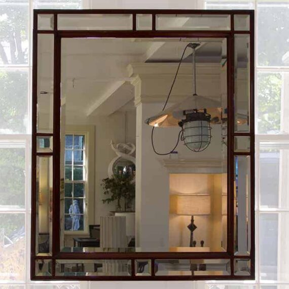 victorian mahogany mirror
