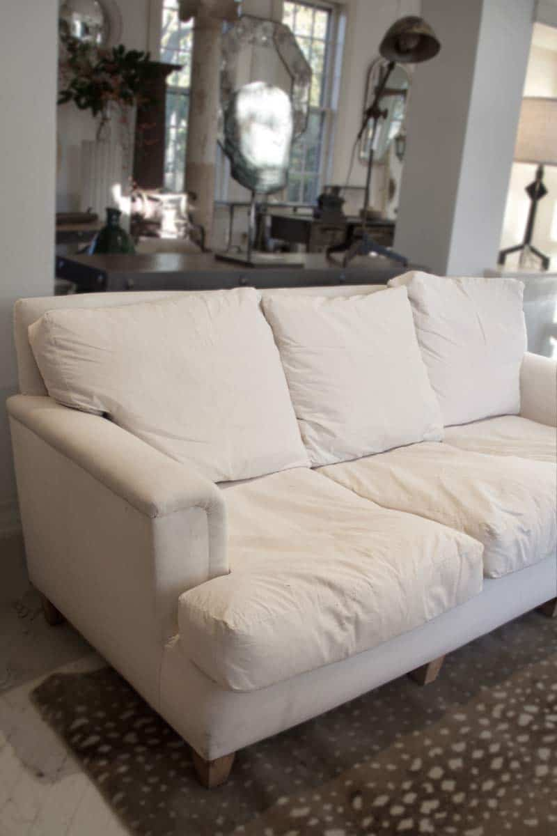 French club style sofa with down cushions rt facts for Sectional sofa down cushions